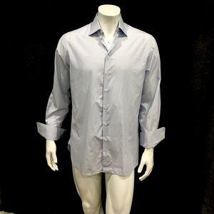 Giorgio Armani Mens Striped French Cuffs Shirt